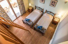 two beds setup